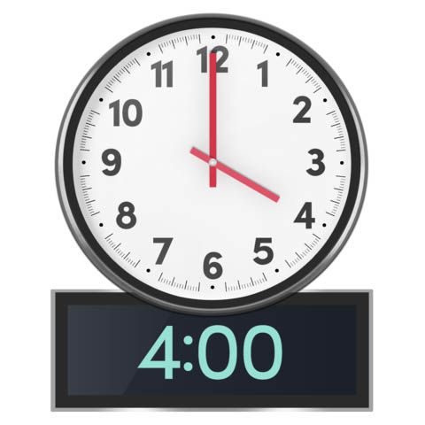 clock at 4 pm