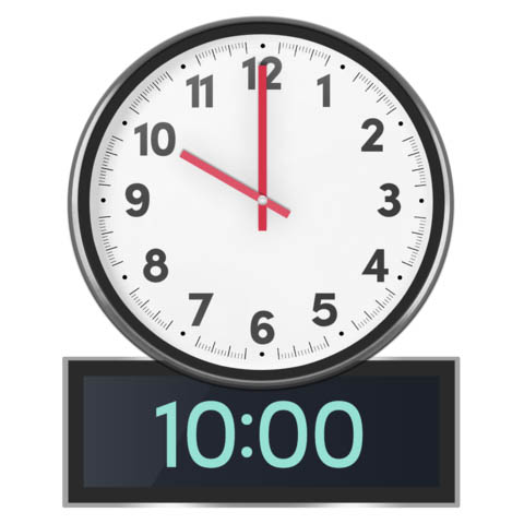 clock at 10 am
