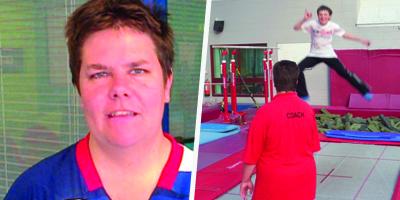 Pam coaching trampolining