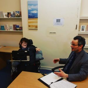 Mandy meeting with her local MP