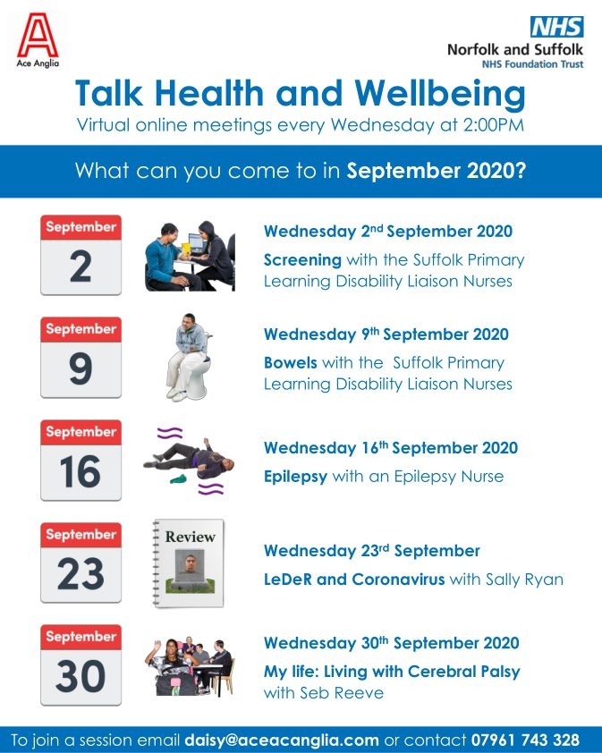 health and wellbeing meetings 2pm every wednesday online contact us to join a meeting